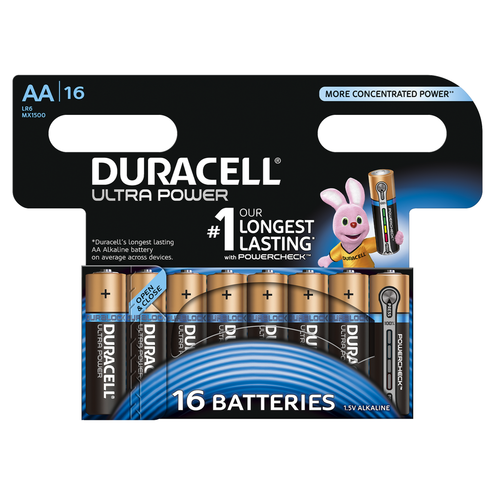duracell ultra power aa batterien. Black Bedroom Furniture Sets. Home Design Ideas