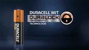 Duracell mit Duralock POwer Preserve Technologie