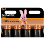 Duracell Type Plus 1,5 V AA-Batterien in 8-teiliger Packung