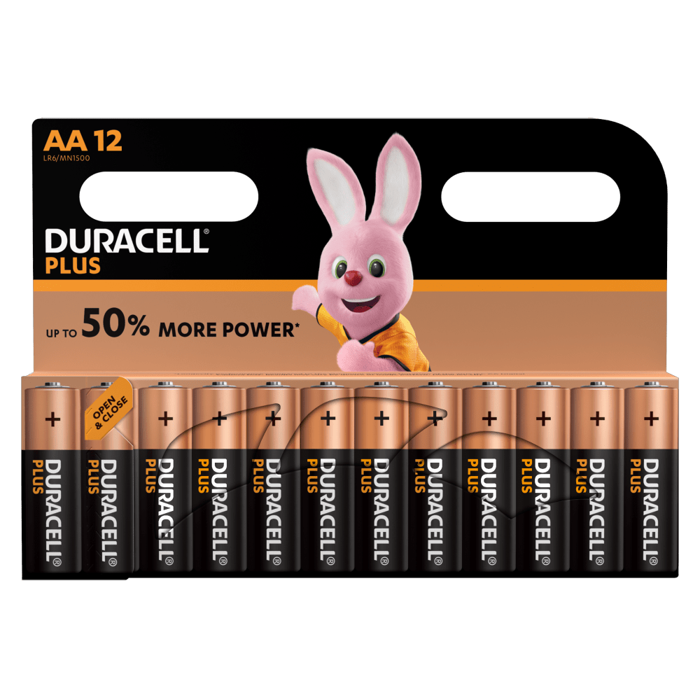 Duracell Type Plus 1,5 V AA-Batterien in 12-teiliger Packung