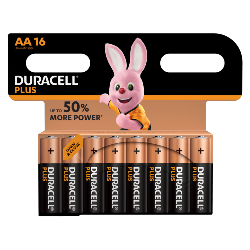 Duracell Type Plus 1,5 V AA-Batterien in 16-teiliger Packung