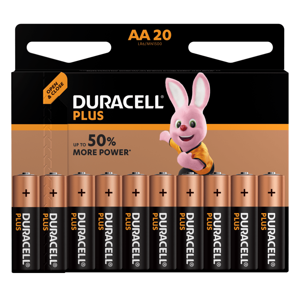 Duracell Type Plus 1,5 V AA-Batterien in 20-teiliger Packung