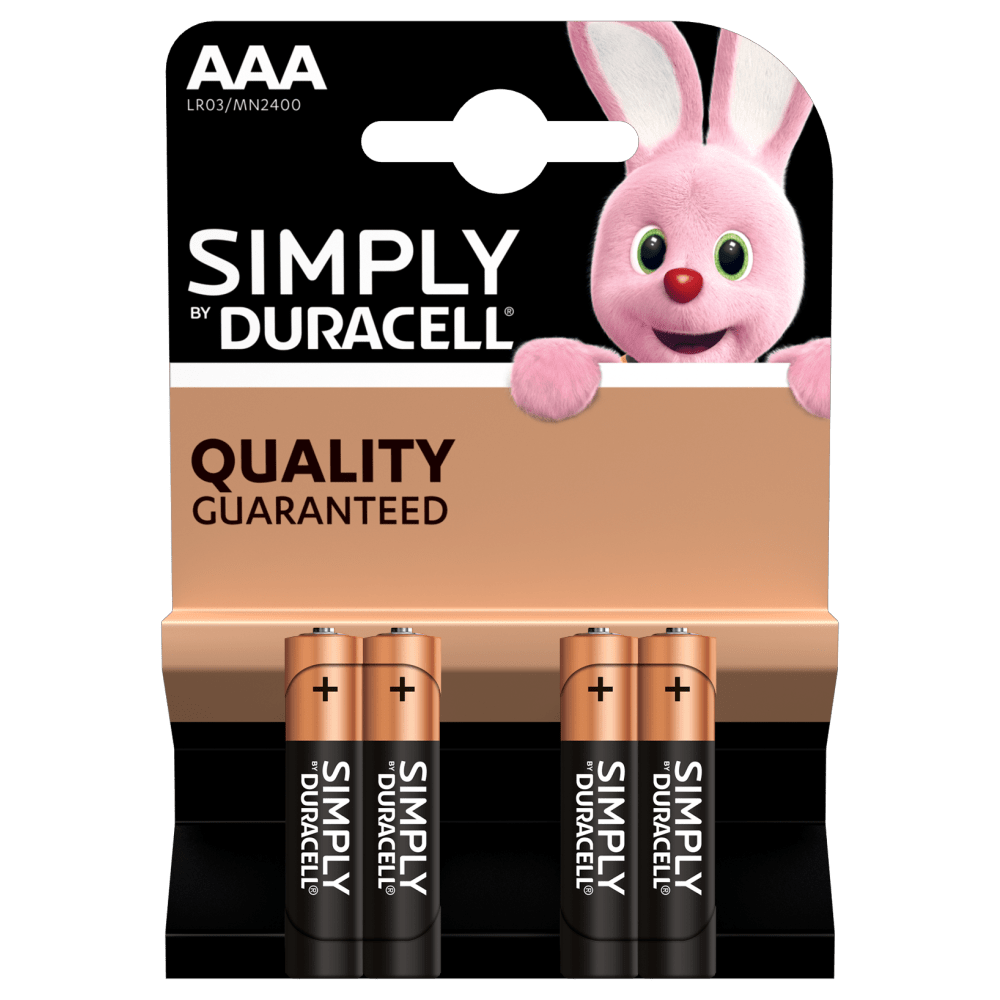 Duracell Simply AAA-Batterien in 4-Stück Packung