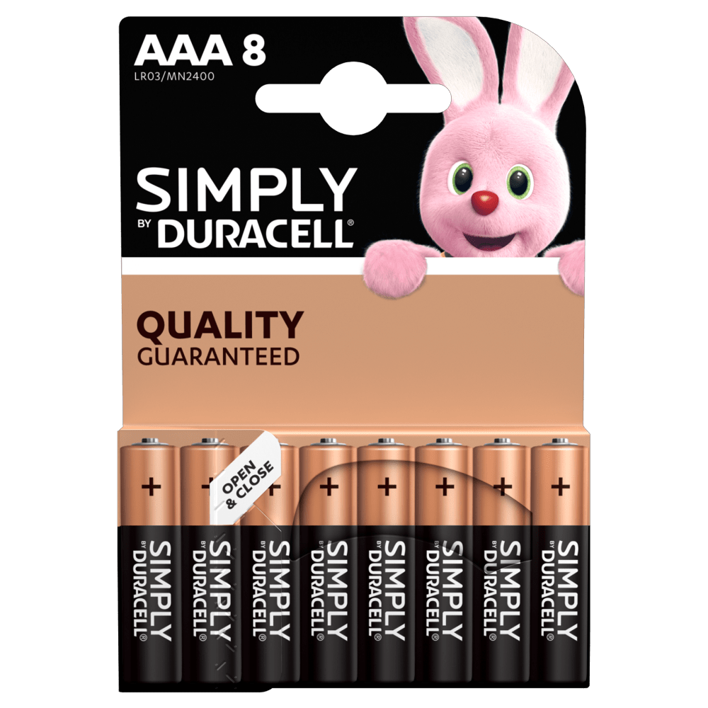Duracell Simply AAA-Batterien in 8-Stück Packung