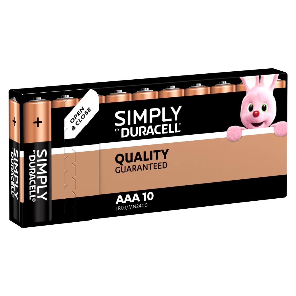 Duracell Simply AAA-Batterien in 10-Stück Packung
