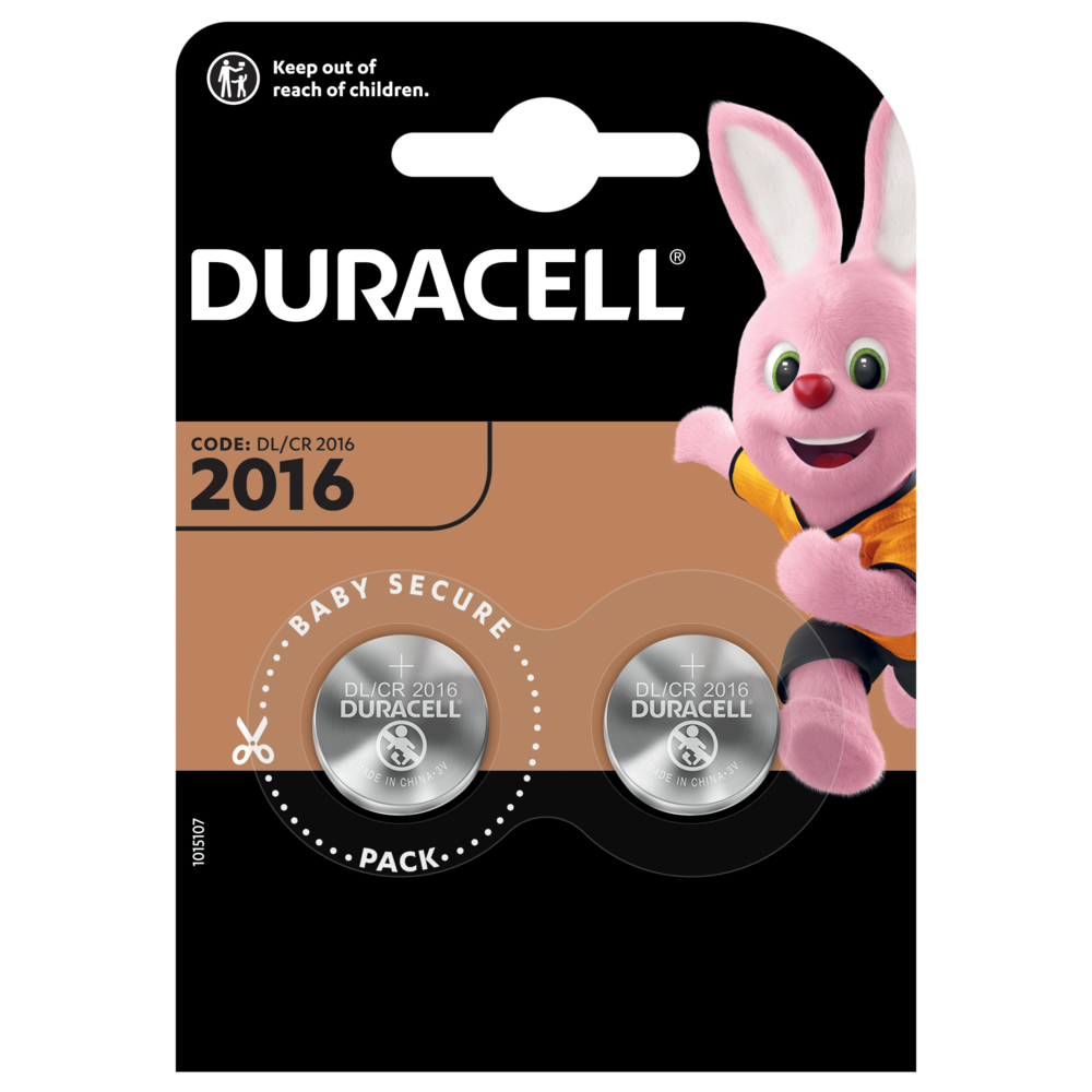 Duracell Specialty 2016 Lithium-Knopfzelle 3V in 2-stück Packung