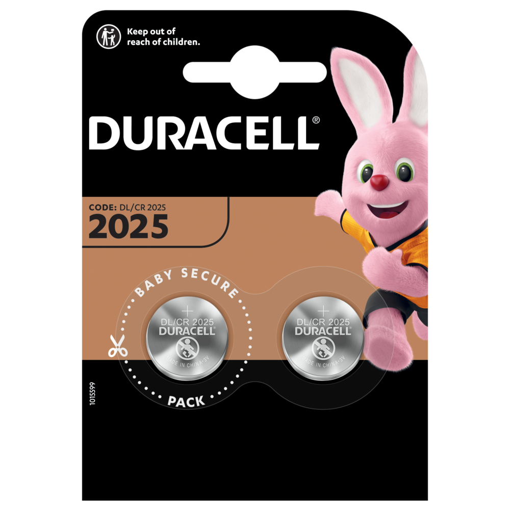 Duracell Specialty 2025 3V Lithium-Knopfzelle in 2-stück packung