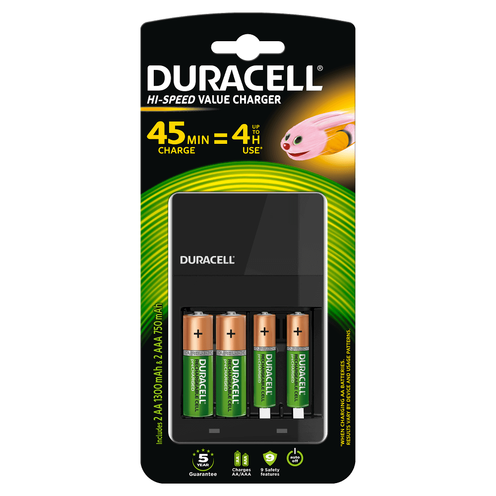 duracell hi speed value ladeger t f r aa und aaa batterien. Black Bedroom Furniture Sets. Home Design Ideas