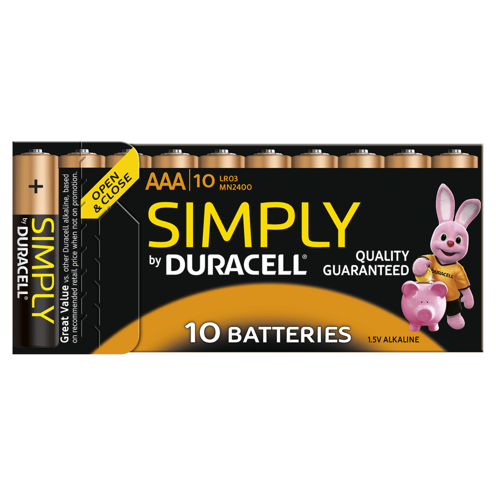 duracell aaa batteries rechargeable and traditional. Black Bedroom Furniture Sets. Home Design Ideas