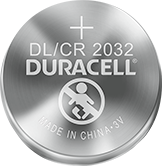 Duracell Lithium-Knopfzelle DL / CR 2032 Batterie