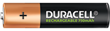 Duracell Rechargeable AAA 750mAh Batterie