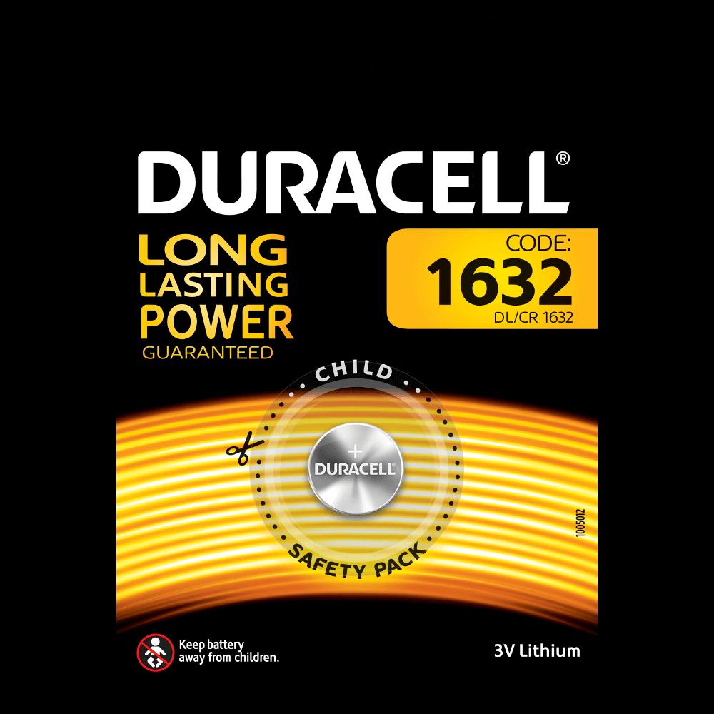 Duracell Specialty 1632 Lithium-Knopfzellen 3 V