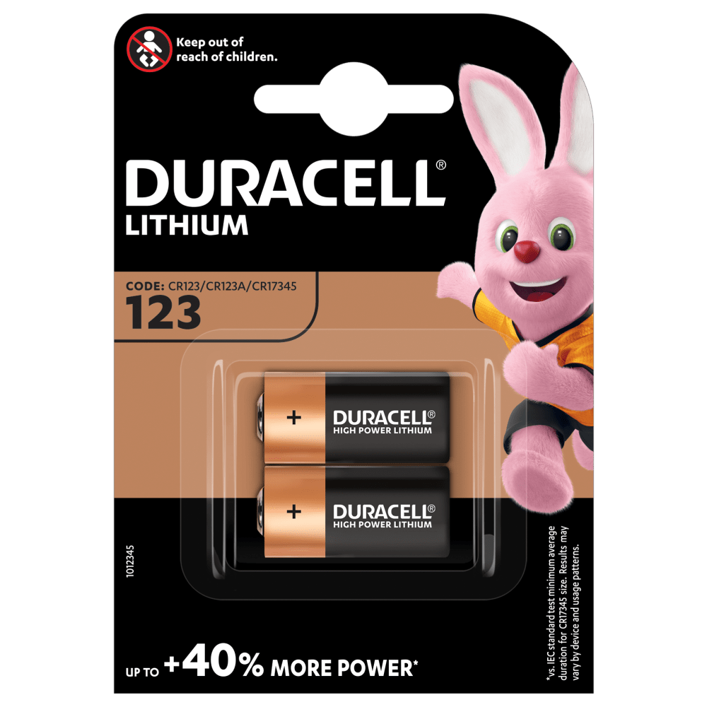 Duracell High Power Lithium 123 Batterie 3V in 2-stück Packung
