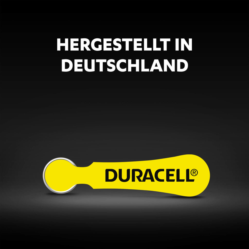 Duracell Hörgerätebatterien made in Germany